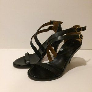 Chloe New Niko Black Leather Strappy Sandals